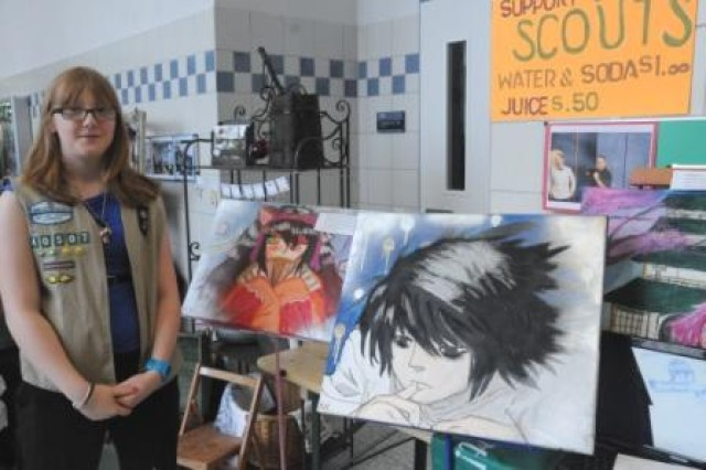 HMHS freshman Athena Hills donated several paintings as part of the community fundraiser, Celebration of the Arts, April 20.