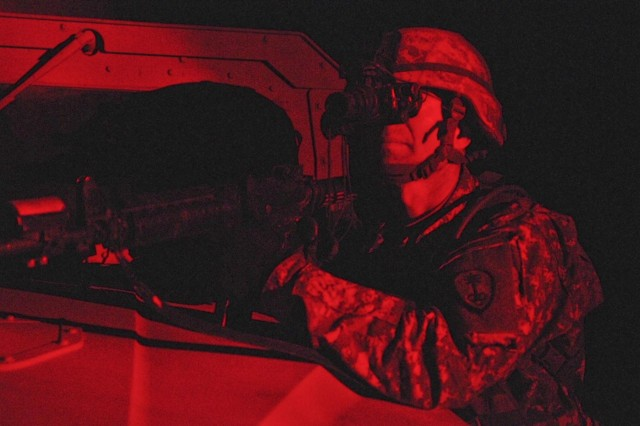Military police conduct close combat exercise in California