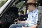 Thomas Skinner, a seventh-grade student at Massaponax Christian Academy, was one of the many students who tried the pilots seat during Fort A.P. Hill's Earth and Safety Day on April 18.