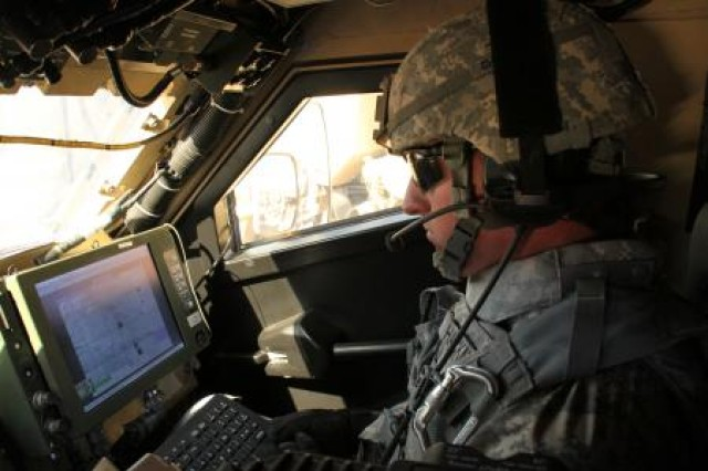 A 2nd Brigade, 1st Armored Division soldier demonstrates Warfighter Information Network-Tactical Increment 2 and Mission Command on the move applications during the Network Integration Evaluation 12.1. WIN-T Increment 2 is a major upgrade to the tactical network backbone that will extend satellite communications to the company level, allowing soldiers to communicate seamlessly through voice, data, images and video - even in complex terrain that can break line-of-sight radio connections. Hosted on a single computing system, the initial set of Mission Command on the move applications will provide mobile company soldiers with the real-time information that typically would only be available inside a Tactical Operations Center.