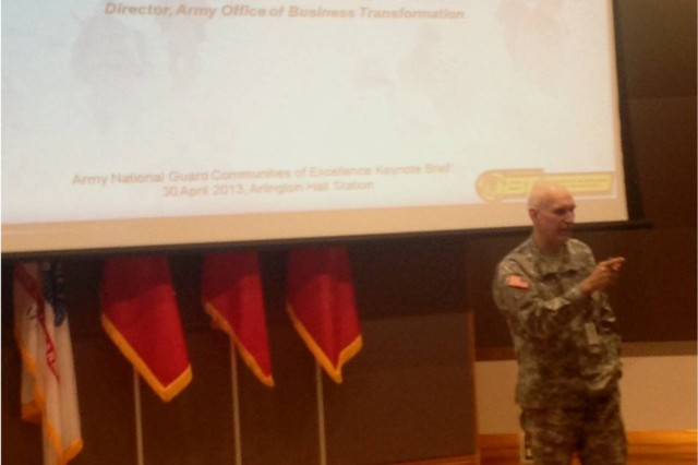 Grisoli speaks to Army National Guard