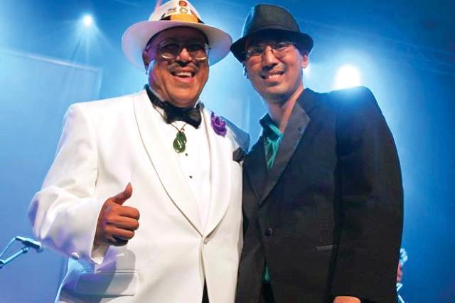 Dennis (left) and David Kamakahi headline the first Leilehua Summer Concert Series, May 11, at the Leilehua golf course.