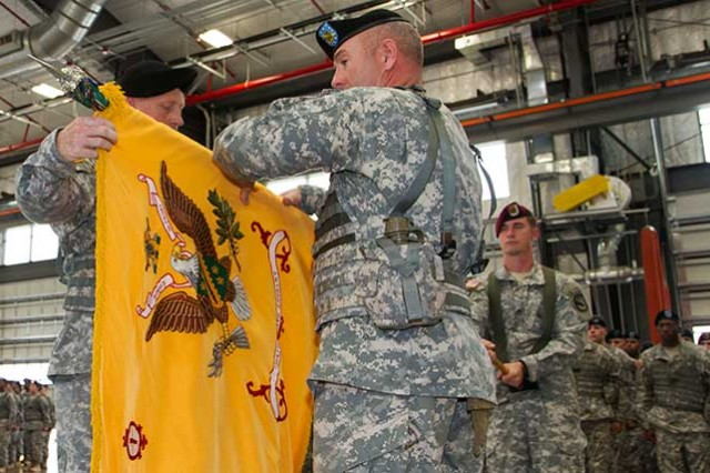 Casing colors for Kosovo: Unit's deployment to country marks first in 10 years