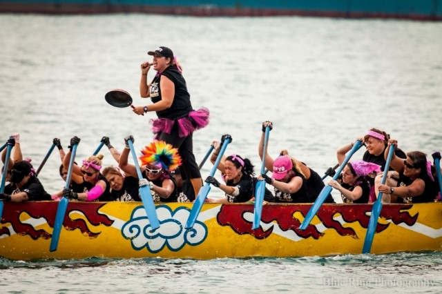 The U.S. Army women's dragon boat team paddled their way to a third-place finish in category A of the Naha Dragon Boat Race in Okinawa, on May 5, 2013.