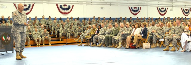 Chief of Staff of the Army Gen. Raymond T. Odierno visits Caserma Ederle