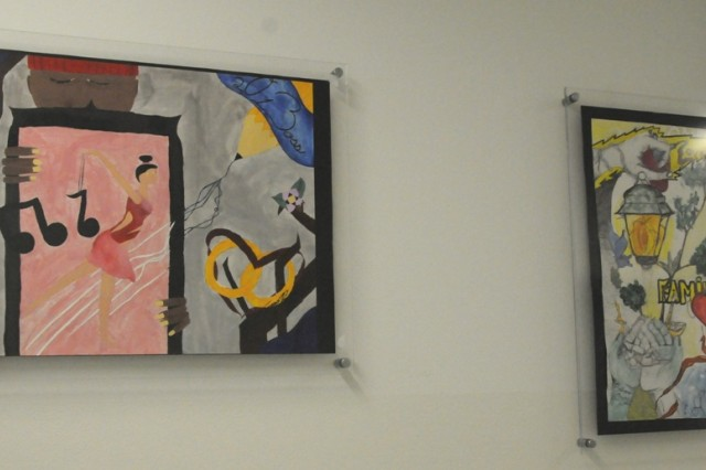 Artwork from Hohenfels Middle/High School students adorn the walls of the Hohenfels Health Clinic.