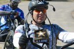 Lt. Col. Dudek Warms Up Before Cycling Training