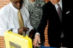 Secretary of the Army John McHugh discusses CBRN capabilities at Fort Leonard Wood