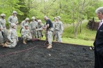 Secretary of the Army John McHugh observes Sapper Leader Course