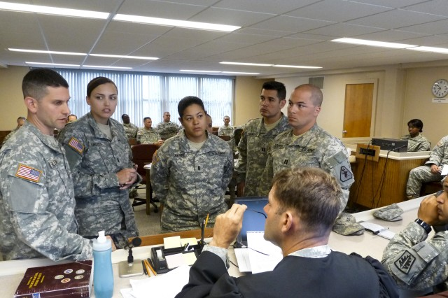 Army Reserve Legal, military police Soldiers train together during real-world scenarios