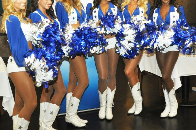 Dallas Cowboys Cheerleaders thanked the troops of Seoul by showing their appreciation for all the hard work and determination they provide to the U.S. and Korean peninsula each day, during a Meet and Greet at the R&R Bar and Grill here, May 10. (U.S. Army photo by Sgt. Kevin Frazier)
