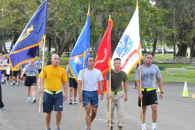 Hundreds of service members assigned to military units in Puerto Rico celebrated the Armed Forces Day, by participating in a 2.5 Mile Run around Fort Buchanan, 15 May.All military branches serving in Puerto Rico were represented in the event, to include the US Marines, the US Navy and the US Army. The US Air Force was represented by the Reserve Officer Training Corps cadets from the University of Puerto Rico, Rio Piedras Campus.