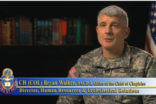 Chaplain (Colonel) Bryan Walker, Personnel Director at the Office of the Chief of Chaplains (OCCH), explains the significance of personnel conferences for U.S. Army Chaplains.
