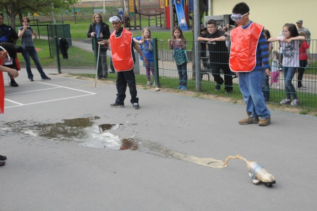 "The Mentos ""Rocket Car"" made a splash with the watching crowd at the HES STEAM event."