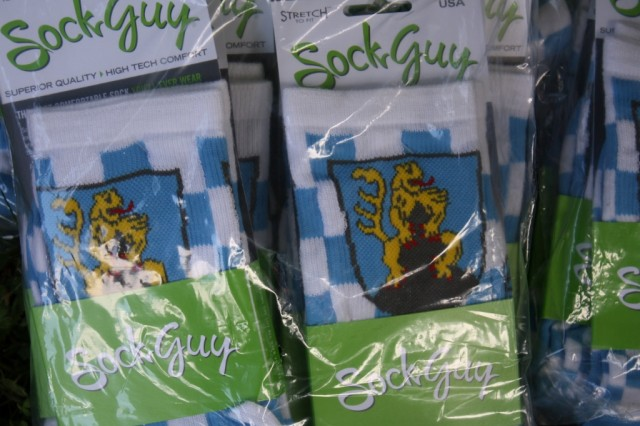 Hohenfels Trail Run and Bike Ride featured custom designed socks as a participation prize for all runners and riders.