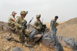 3rd Platoon, Company D, 2nd Battalion, 506th Infantry Regiment, 4th Brigade Combat Team, 101st Airborne Division, patrols with the Afghan Uniform Police