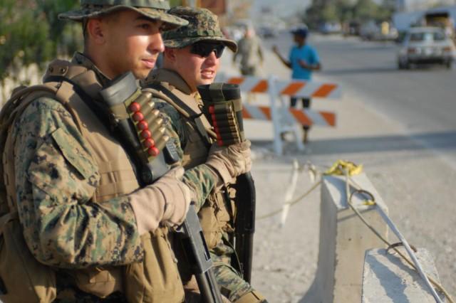 us marines from alert contingency platoon 6 1st fleet anti terrorism norfolk