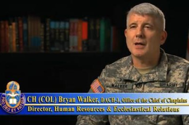 Chaplain (Colonel) Bryan Walker, Personnel Director at the Office of the Chief of Chaplains (OCCH)