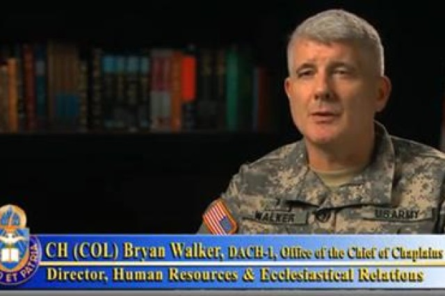 Chaplain (Col.) Bryan Walker, Personnel Director, Office of the Chief of Chaplains