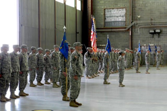 Soldiers of the 2-13th Aviation Regiment, line up to salute the portrait of Staff Sgt. Keith Kiser during his memorial service in the Main Post Chapel May 17. Kiser died on active duty after losing a year-long battle with cancer April 25.