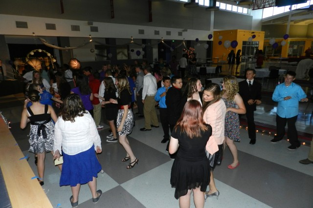 Eighth grade students dress up and celebrate their final days at Colonel Smith Middle School at their eighth grade dance. The event took place May 17 inside the Student Union.