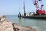 USACE Galveston District begins jetty repair work at South Padre Island, Texas
