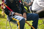 Retired Col. Wilcomb at Memorial Day ceremony