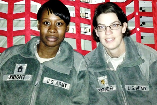 Sgt. 1st Class Wanda Knight (left) and Maj. Melody Varner supported the Flintrock exercise in Africa.