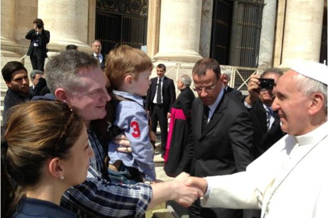 WTB-Europe Soldiers and Family Members met with Pope Francis I during a spiritual fitness pilgrimage to Rome from 8-13 April.