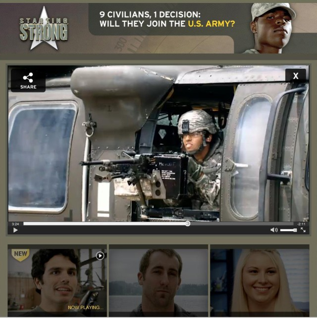 New reality-style TV series lets potential recruits live Army life