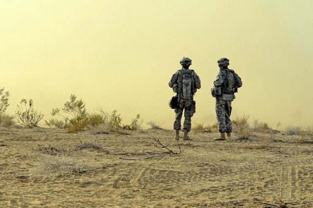 The Army would like its enlisted Soldiers to remain on station for at least 36 months, and career managers are aiming to see that they will, said a director from Human Resource Command. Here, Soldiers from the 1st Infantry Division based in Fort Riley, Kan., participate in training at Fort Irwin, Calif., earlier this year.