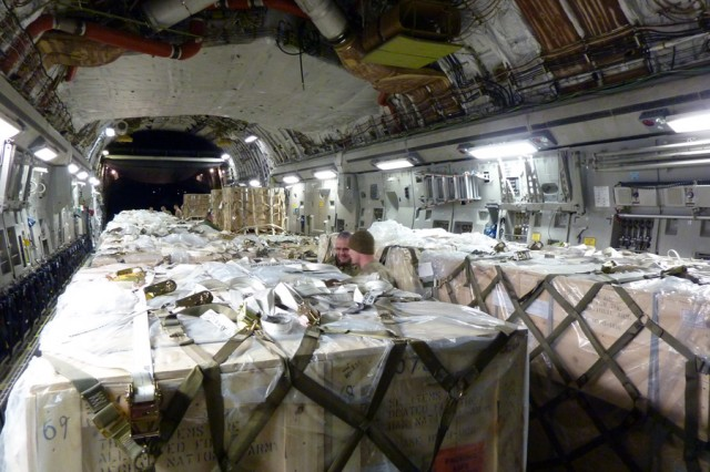 This is what an Arsenal shipment looks like once it leaves Watervliet.  Here are the Arsenal's 60mm mortars on a C-17 aircraft being downloaded in Afghanistan.  Watervliet Arsenal announced in February 2013 that it received a $5.9 million contract to provide the Afghan National Army with nearly 900 60mm-mortar systems, as part of the U.S. State Department's Foreign Military Sales program.  The Arsenal made its first shipment of the 60mm mortar systems in February 2013 and has been shipping about 100 systems a month to Afghanistan.