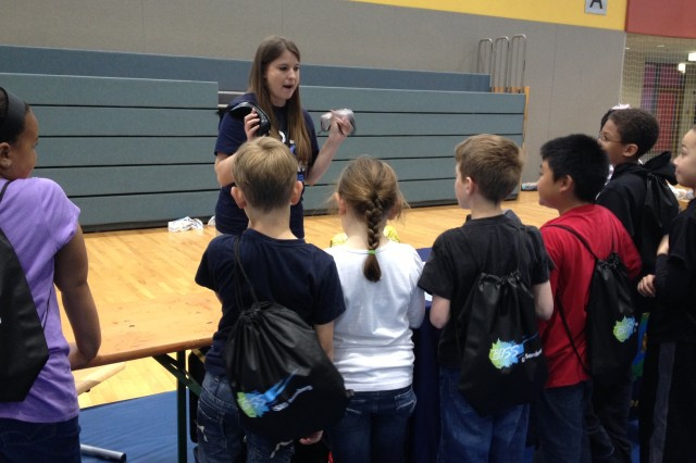 Students from Mrs. Heit's third grade class at Bamberg Elementary School learned about various aspects of health and safety at the Community Health Fair.