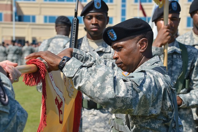 Furling the guidon