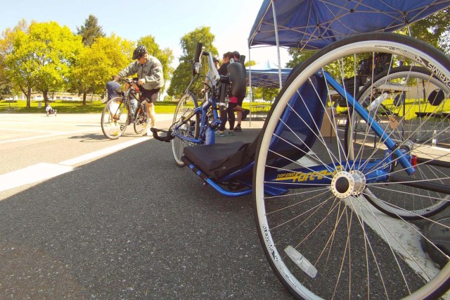 Wounded warriors had bicycles fitted to their specific needs during the Wounded Warrior Project bicycle clinic in Baumholder May 28. The clinic was held in preparation for the annual Soldier Ride at Bostalsee scheduled for Aug. 10.