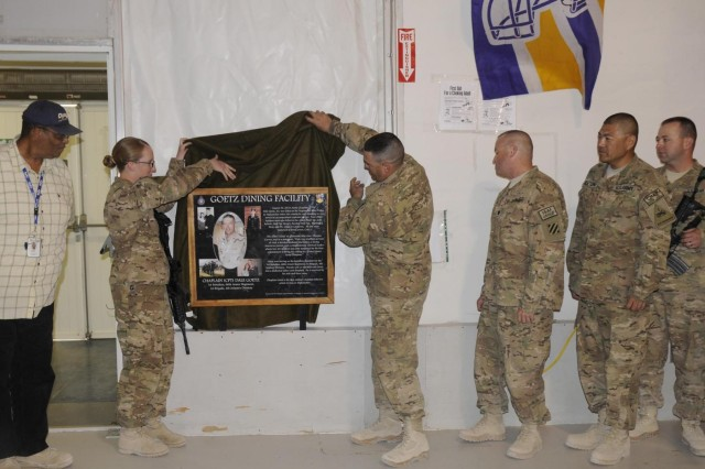 Dining facility commemorates fallen chaplain