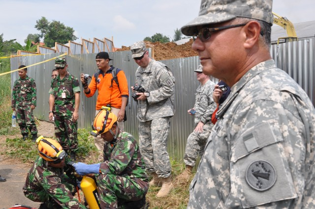 Tentara Nasional Indonesia Search and Rescue demonstration