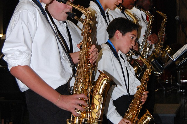 Vicenza Middle School instrumentalists and singers pull out all the stops in year-end performances May 15 highlighting their musical accomplishments under the direction of music director Eldon Kirkhum and pianist Ciriaco Colella.