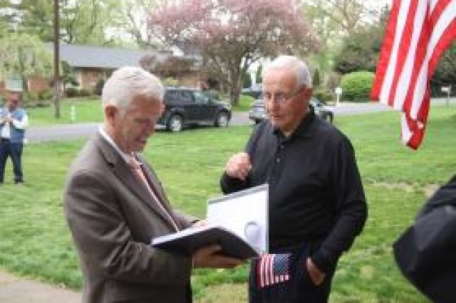 April 29, 2013, the 68th anniversary of 2nd Lt. Pioli's liberation.  Family, neighbors and friends gathered around to join in celebration at his Devola, Ohio, home.  There was a surprise guest: Cong. Bill Johnson, R-Marietta.  He presented Pioli with a U.S. flag that had flown over the nation's capitol in Pioli's honor.