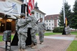 21st TSC soldiers honor US, German flags