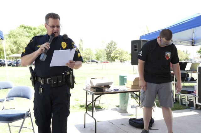 Cpl. Scott Borgstadt of the Sierra Vista Police Department conducts driving-under-the-influence training during the safety day. He recently lost a daughter to a drunk driver and shared how the loss affected him and his family. According to Capt. Janmichael Guillermo, Company D commander and organizer of the June 7 safety event, no one knows what impacts driving drunk can have on a family or community when the driver causes one or more deaths by driving under the influence.