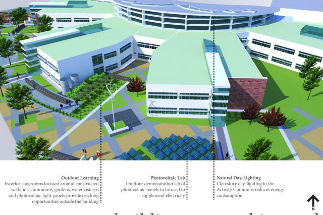 SchenkelShultz Architecture, the firm hired by the U.S. Army Corps of Engineers and Department of Defense Education Activity to develop a design concept for the new Kaiserslautern High School, won a prestigious LEARNING BY DESIGN Citation of Excellence for project in Vogelweh, Germany.