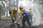 Guard members man Colorado fire lines on Father's Day