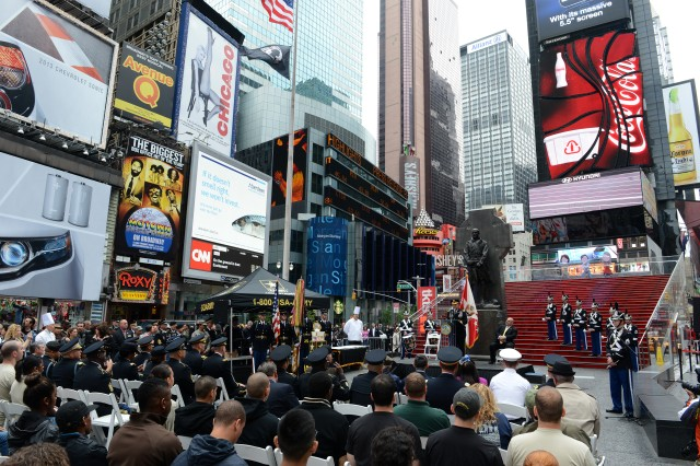 """Gen. John Campbell, vice chief of staff of the Army, told participants of the 238th Army Birthday celebration, """"The Army is about people and for the last 238 years the strength of our nation has been our Army and that's our people,"""" during a ceremony in Times Square, New York, June 14, 2013."""