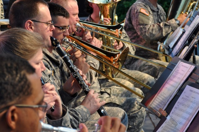 The 94th Army Band opened the concert with traditional style military music.