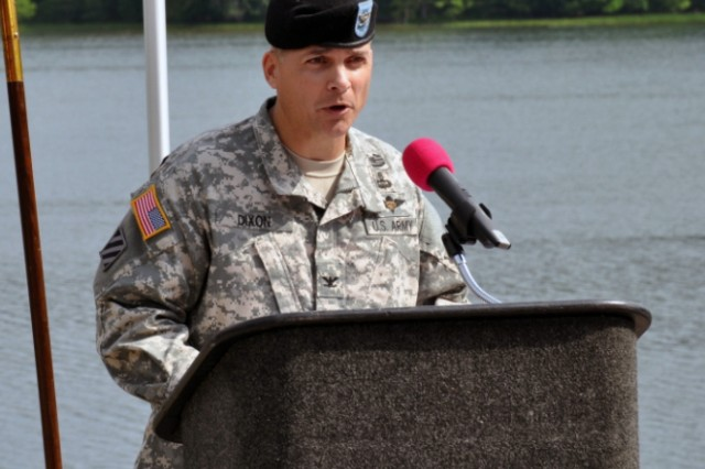 "Col. Robert ""Joe"" Dixon, Jr., became the 16th commander of Crane Army Ammunition Activity June 20 at a ceremony overlooking Naval Support Activity Crane's Lake Greenwood."