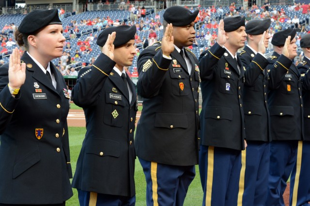 Soldiers, wounded warriors honored at Nationals game