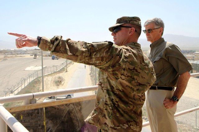 Secretary of the Army visits Bagram Air Field