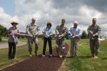 Distinguished guests cut ribbon for Greenside Pathway at Raystown Lake
