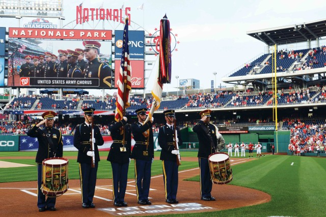 Soldiers, Wounded Warriors honored at Nationals' game